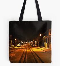 Nighttime, Snow and Lights. Tote Bag