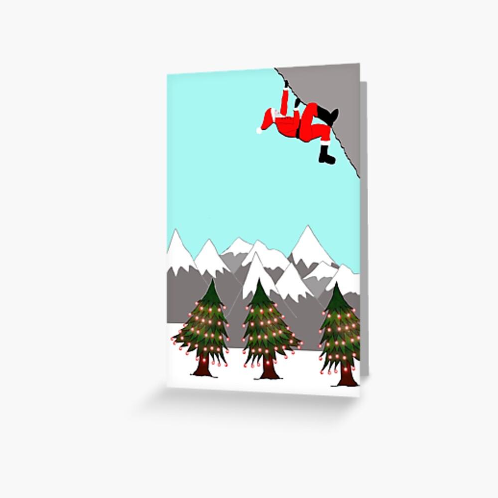 Santa bouldering  Greeting Card