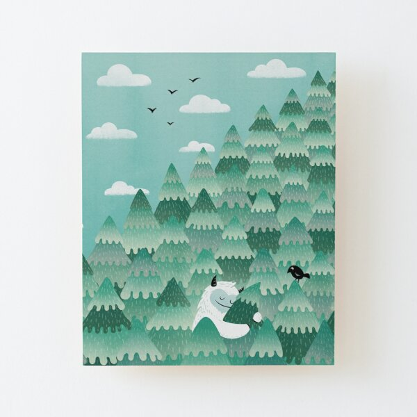 Tree Hugger (Spring & Summer version) Wood Mounted Print