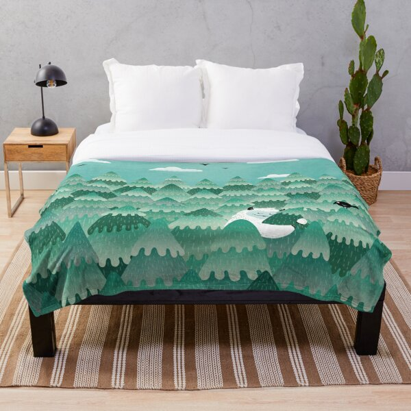 Tree Hugger (Spring & Summer version) Throw Blanket