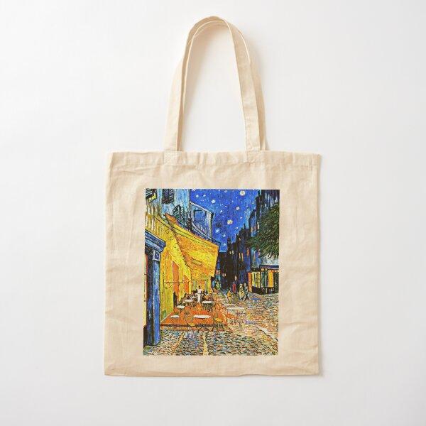 Van Gogh - Cafe Terrace, Place du Forum, Arles Bolsa de algodón