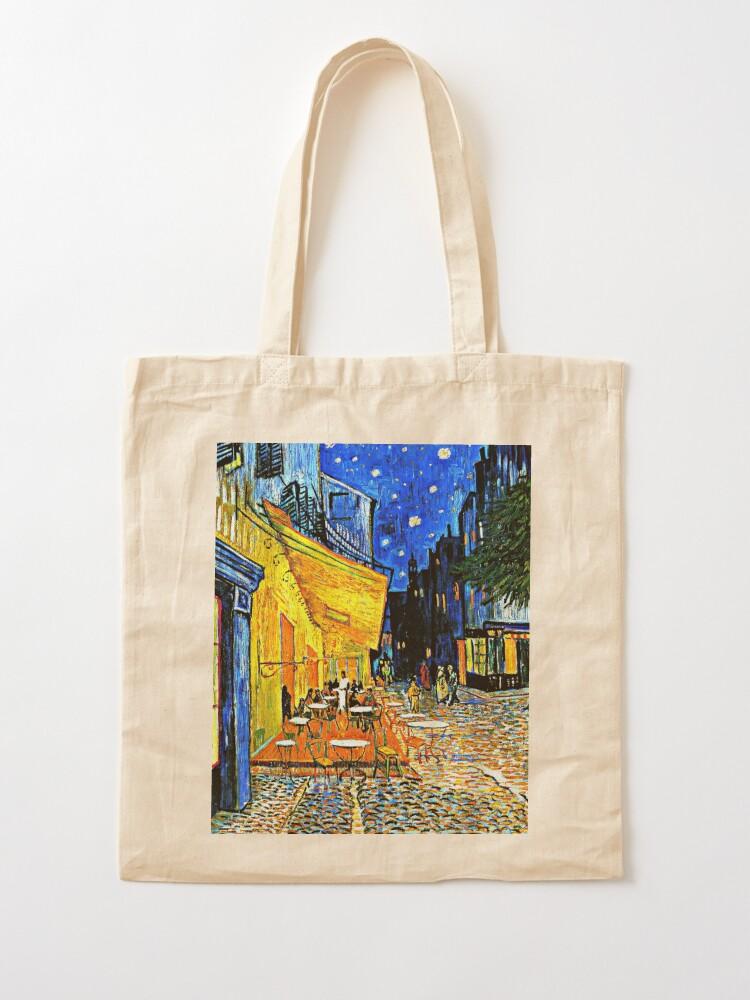 Alternate view of Van Gogh - Cafe Terrace, Place du Forum, Arles Tote Bag