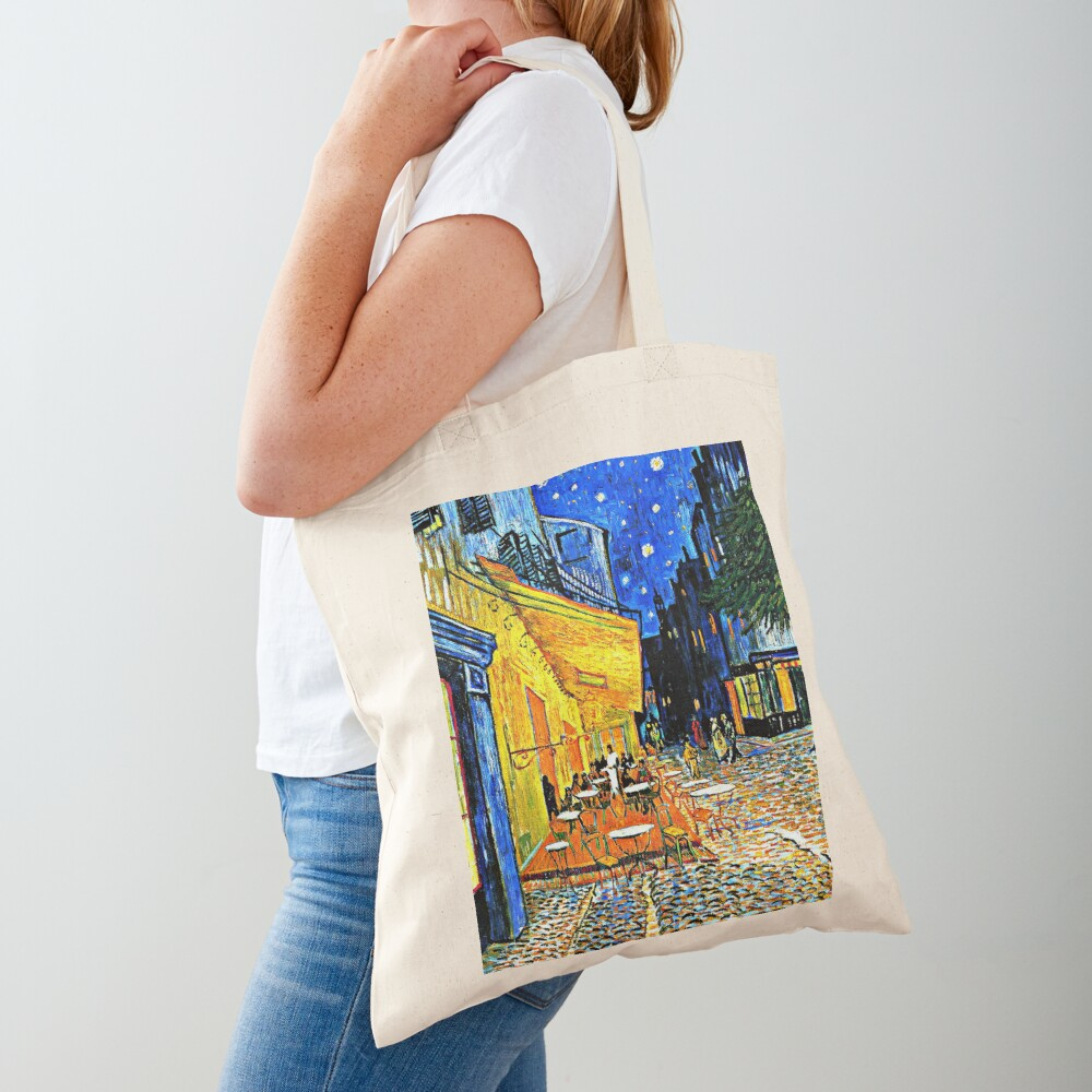 Van Gogh - Cafe Terrace, Place du Forum, Arles Tote Bag