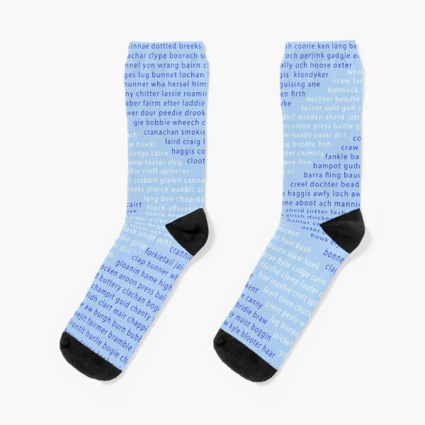 Scottish Words in a Saltire Socks