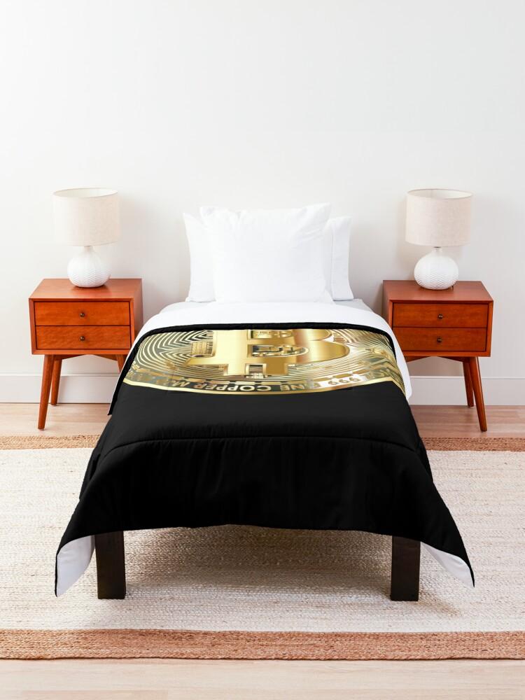 Alternate view of Golden Bitcoin Coin T-Shirt Bitcoin Investor Logo Crypto Fan Comforter