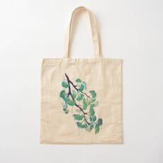 O Ginkgo (in Green) Cotton Tote Bag