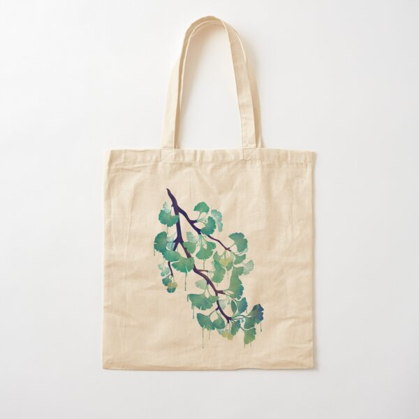 O Ginkgo (in Green) Cotton Tote Bag