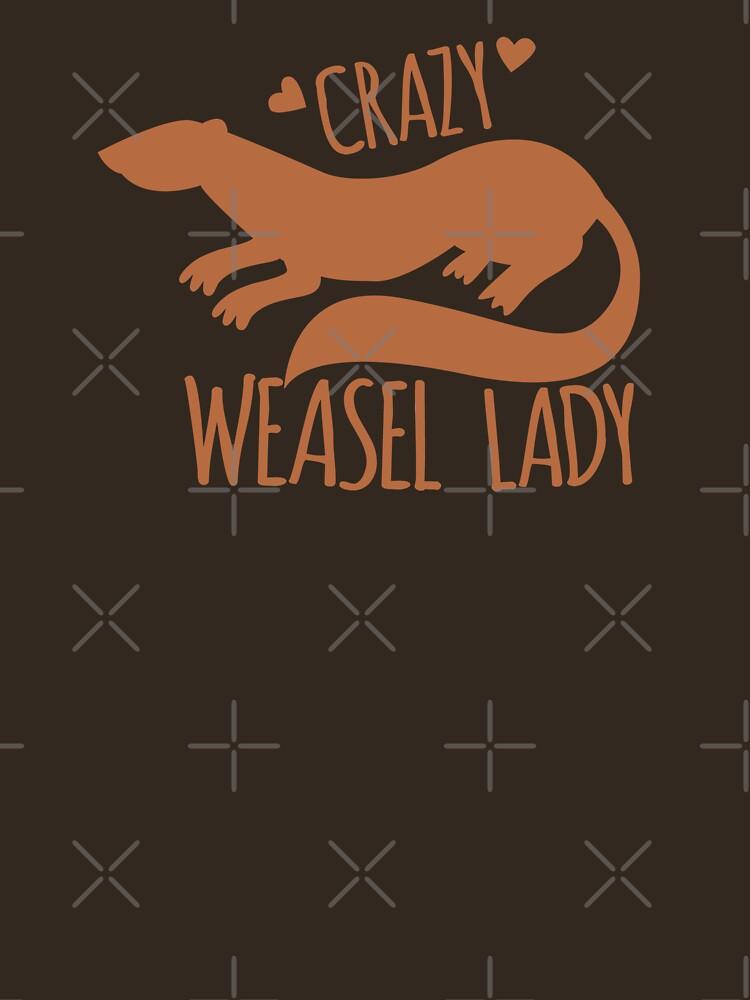 Crazy Weasel Lady by jazzydevil