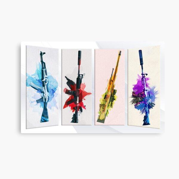 CS:GO Watercolor weapons Canvas Print