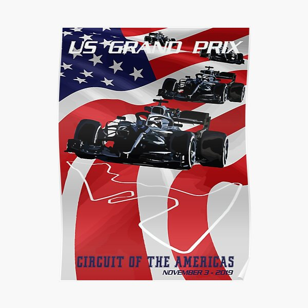 2019 United States Grand Prix - CIRCUIT OF THE AMERICAS Poster