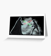 Vader Luke duel Greeting Card