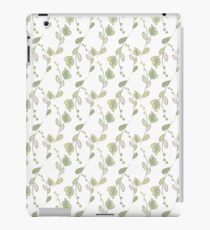 Seamless ecology pattern with hand drawn leaves iPad Case/Skin