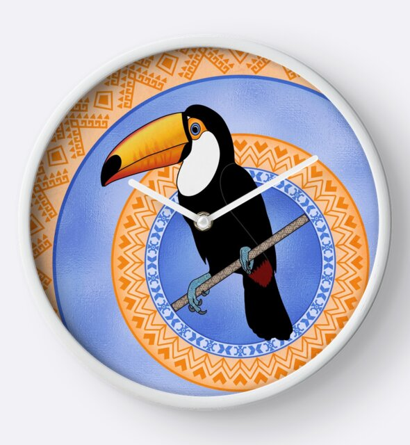 Studio Dalio - Toco Toucan on Decorative Rings Clock
