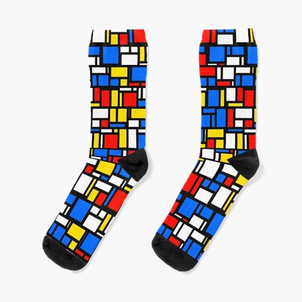 Mondrian Style Socks