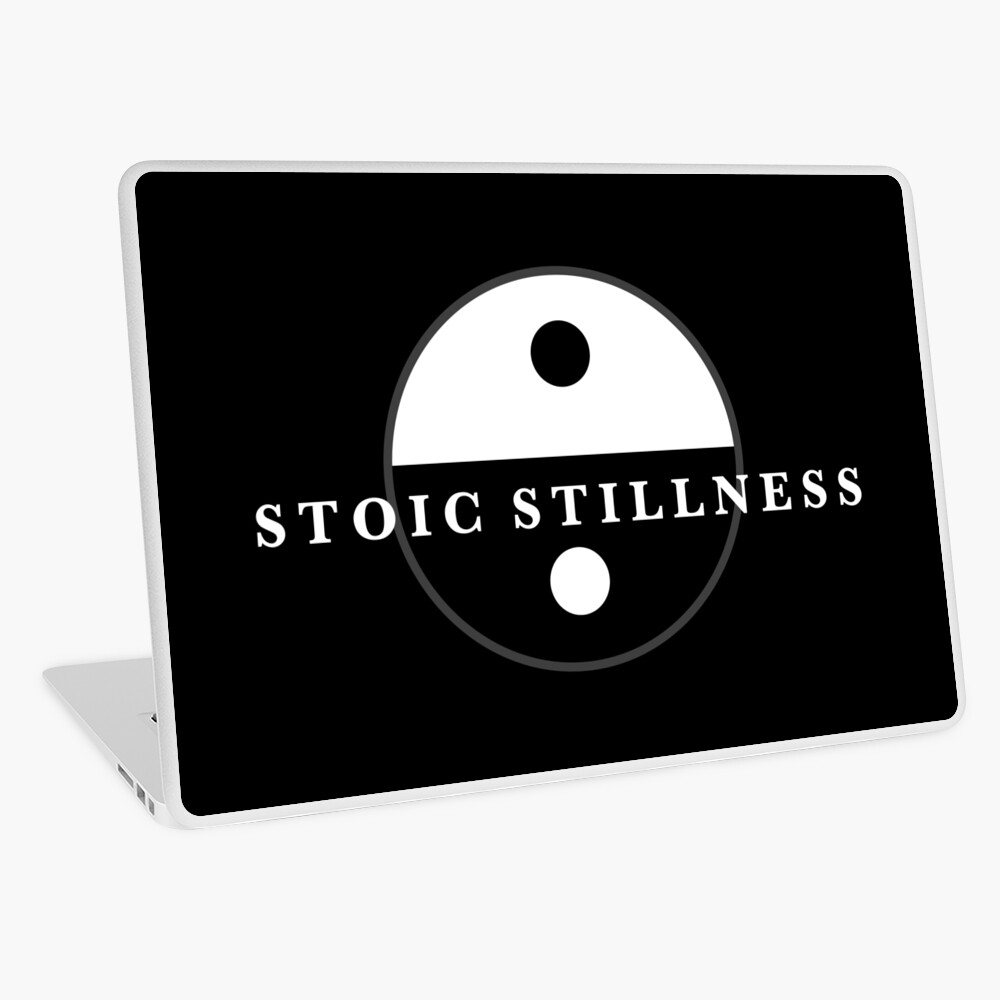 Stoic Stillness - Find Calm - Against The Chaos Laptop Skin