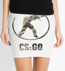 CSGO Counter Terroist Circle Design (With CSGO Text) Mini Skirt