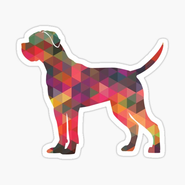 Cane Corso Dog Breed Geometric Pattern Silhouette Multi Sticker