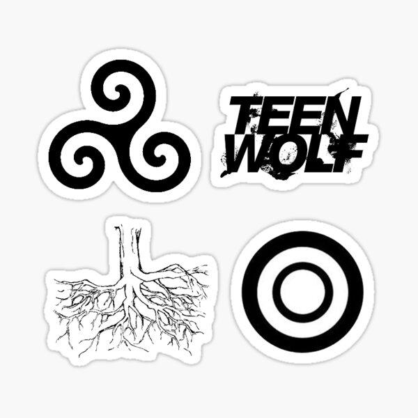 Ensemble de mini autocollants loup adolescent Sticker