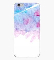 Hand drawn abstract square watercolor grunge background iPhone Case