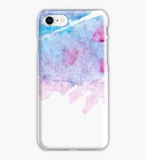 Hand drawn abstract square watercolor grunge background iPhone Case/Skin