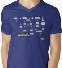 Dishwasher flowchart - light Men's V-Neck T-Shirt