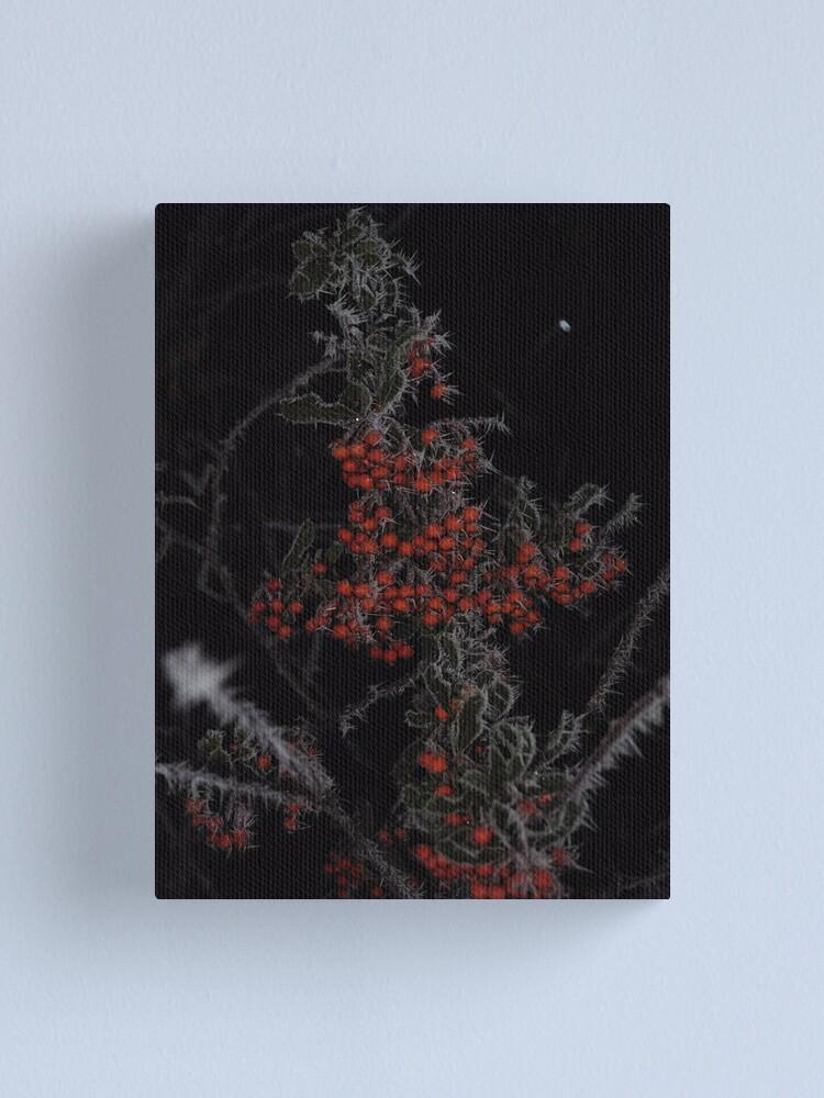 Alternate view of Frozen Berries Canvas Print