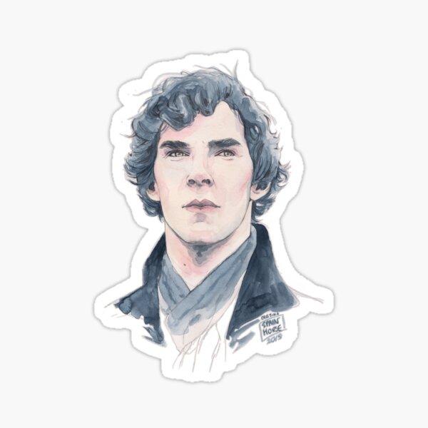 Sherlock portrait Sticker