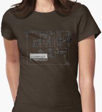 Dishwasher flowchart - dark Womens Fitted T-Shirt