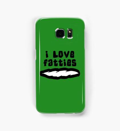 """""""I Love Fatties"""" Weed Marijuana Cannabis Samsung Galaxy Case/Skin"""