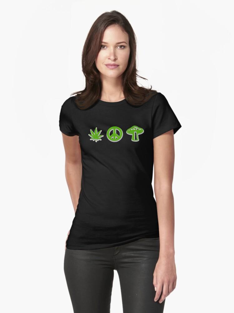Marijuana Peace Mushrooms by MarijuanaTshirt