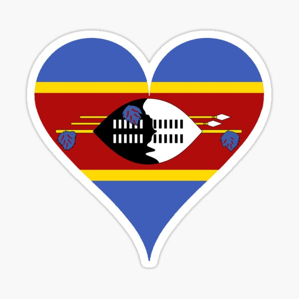 SWAZILAND COUNTRY VINYL FLAG DECAL STICKER