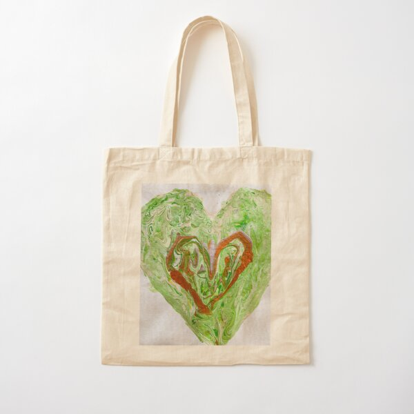Open heart Cotton Tote Bag
