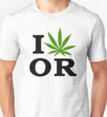 I Love Marijuana Oregon Cannabis Weed T-Shirt