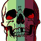 Striped Skull by skullbrain