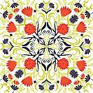 Mandala Flowers by printmesomecolo