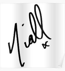 Niall Horan Signature  Poster