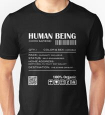 Human Being Shipping Label Unisex T-Shirt