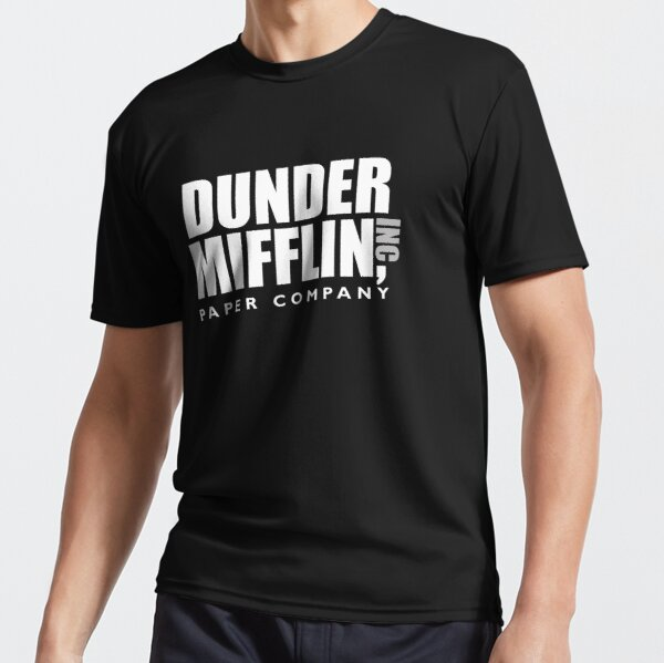 The Dunder Office Mifflin Inc. Design, T-Shirt, tshirt, tee, jersey, poster, Original Funny Gift Idea, Dwight Best Quote From Active T-Shirt