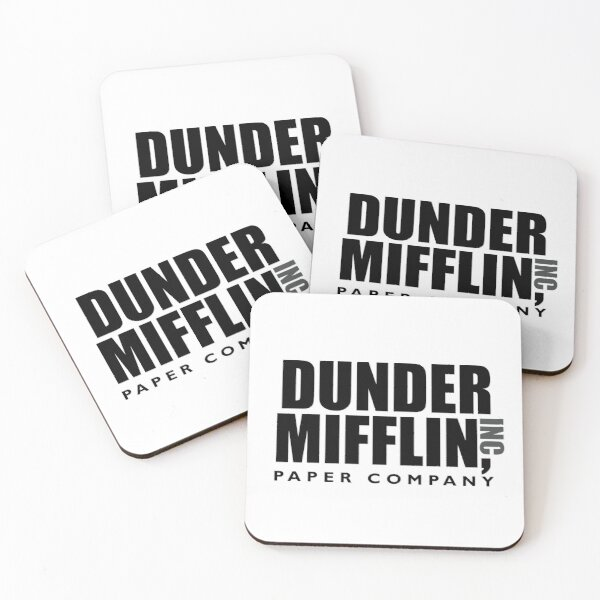 The Dunder Office Mifflin Inc. Design, T-Shirt, tshirt, tee, jersey, poster, Original Funny Gift Idea, Dwight Best Quote From Coasters (Set of 4)