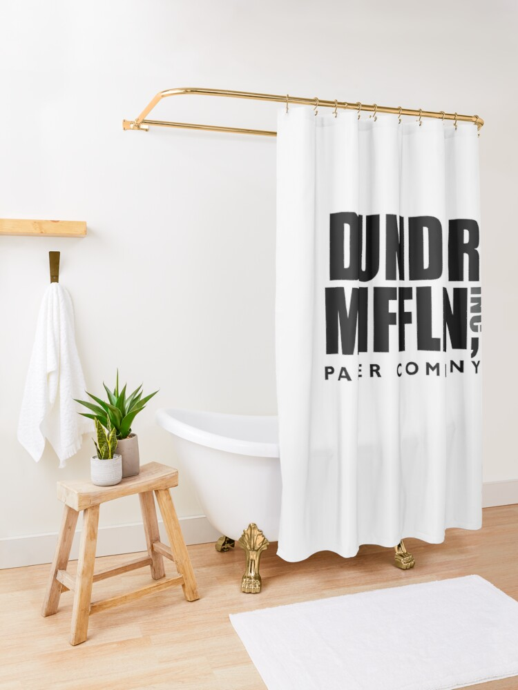 Alternate view of The Dunder Office Mifflin Inc. Design, T-Shirt, tshirt, tee, jersey, poster, Original Funny Gift Idea, Dwight Best Quote From Shower Curtain