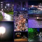 Lights in the night collage by Tarolino
