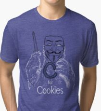 C for Cookie Tri-blend T-Shirt