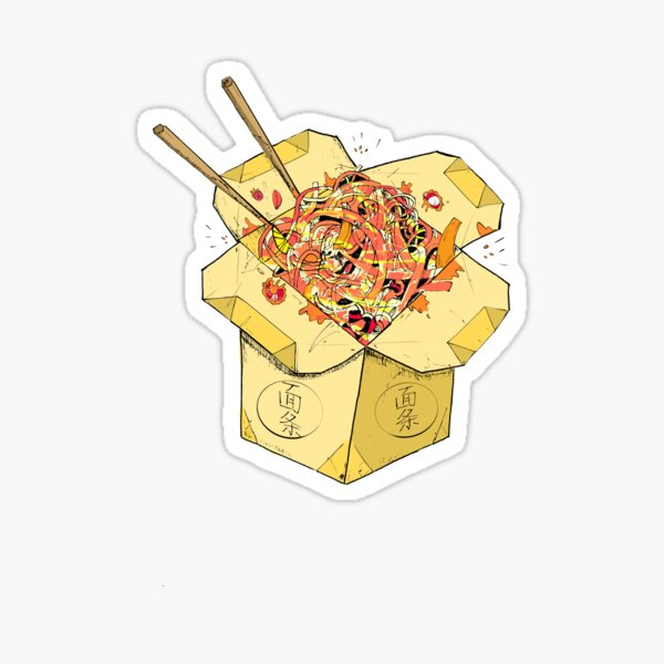 Noodles Takeout Sticker- Street Food - LoudMouse Crew Style Sticker