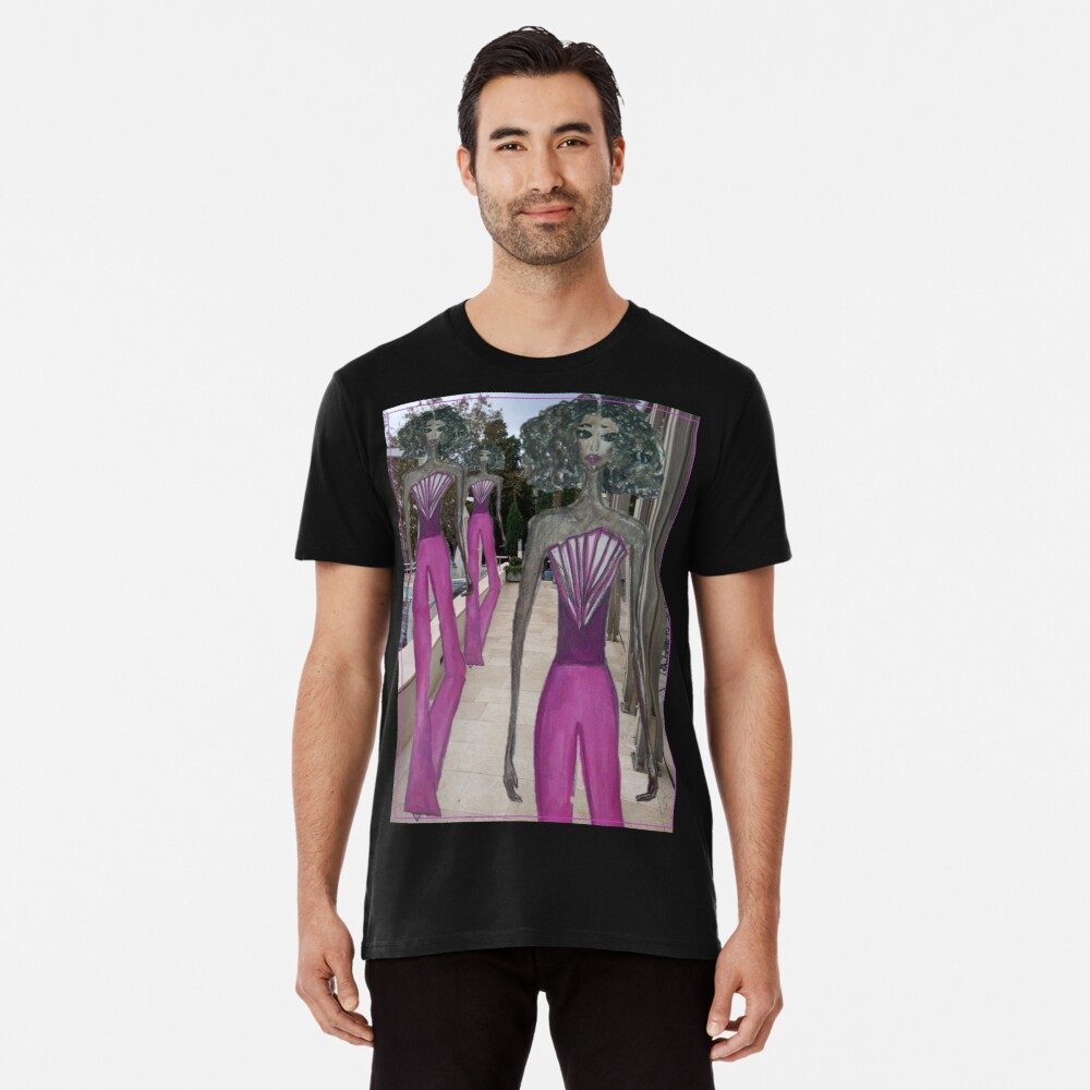 FASHION ART GIRL IN A PINK JUMPSUIT Premium T-Shirt