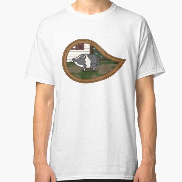 Basil the Pig Print Classic T-Shirt