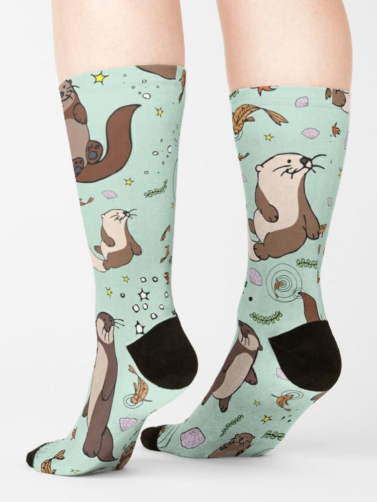 Alternate view of Sea Otters Socks