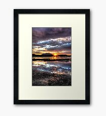 Willow Lake Blues Framed Print