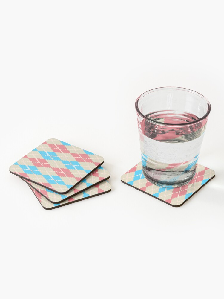 Alternate view of At the Beach Argyle Coasters (Set of 4)