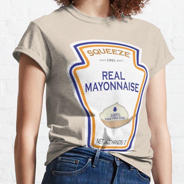 Lustiges anpassbares Mayonnaise-Etikett Classic T-Shirt