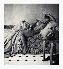 On silk and damask Photographic Print